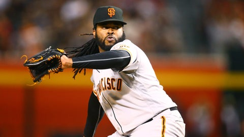 Giants starting pitcher Johnny Cueto