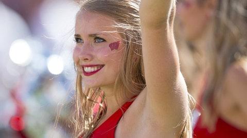 Wisconsin cheerleader
