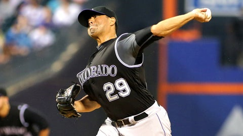 Rockies starting pitcher Jorge De La Rosa