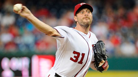 Nationals starting pitcher Max Scherzer
