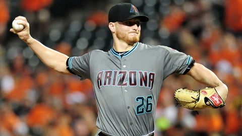 D-backs starting pitcher Shelby Miller
