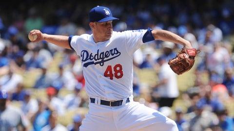 Dodgers starting pitcher Brock Stewart
