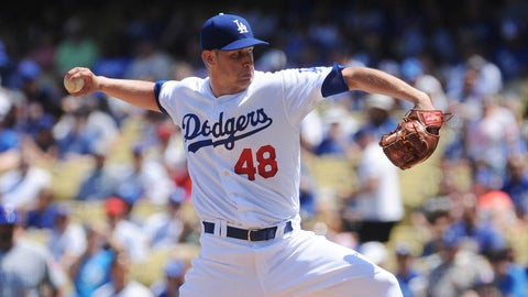 Dodgers starting pitcher Brock Stewart