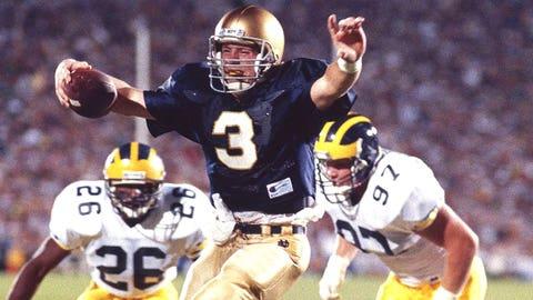 Michigan @ Notre Dame -- 1990