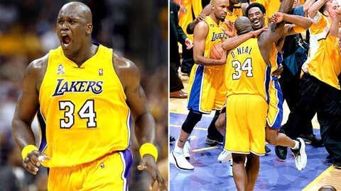 4. 2001 Los Angeles Lakers