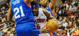 76ers end 26-game skid, pound Pistons