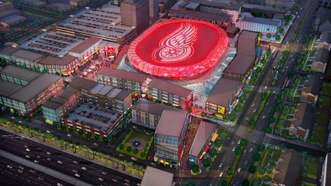 Aerial view of new Red Wings arena