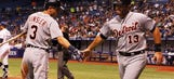 Tigers top Rays in 11 innings, keep pace with Royals