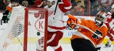 Wings outlasted by Flyers, 4-2