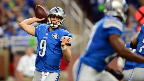 Lions quarterback Matthew Stafford is 0-17 all-time when facing teams on the road with a winning record, including an 0-1 mark in the playoffs.
