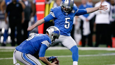 Prater could stick with Lions after settling team's kicking woes