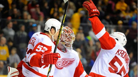 Wings end impressive road trip with 4-3 win at Nashville