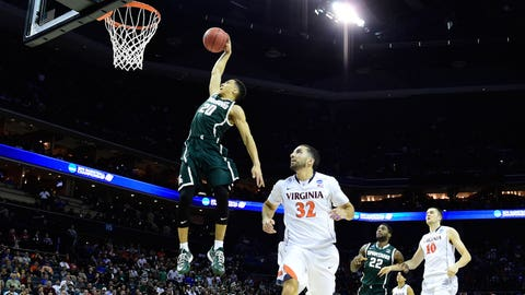 Trice leads Michigan State over Virginia again 60-54