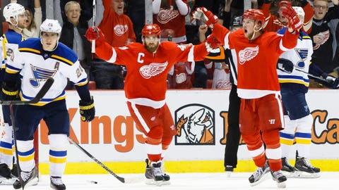 Abdelkader's performance leads Wings to OT win over St. Louis