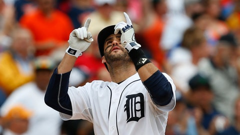 5. J.D. Martinez, OF, Detroit Tigers (.289, 25 HR, 16 2B, 59 RBI)