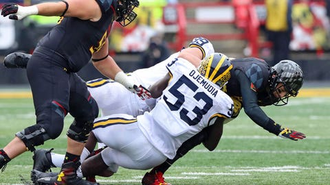 No. 22 Wolverines blank Maryland 28-0 for second straight shutout
