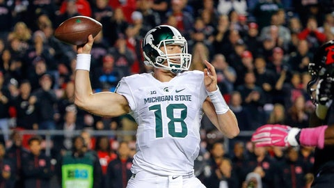 No. 4 Michigan State edges Rutgers 31-24