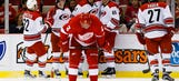 Hurricanes hand Red Wings first loss of season