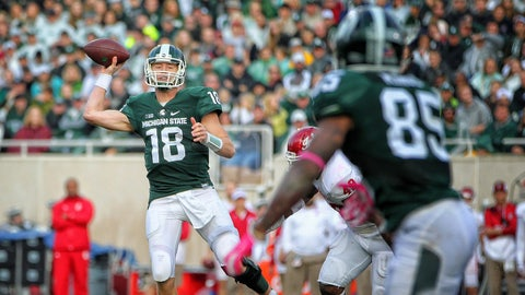 No. 7 Michigan State pulls away for 52-26 win over Indiana