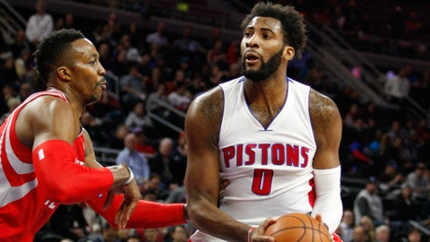 Drummond helps Pistons beat Rockets 116-105