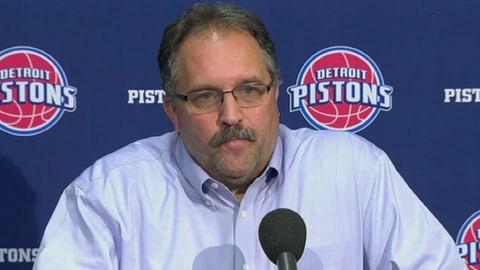 Stan Van Gundy, president and head coach, Detroit Pistons