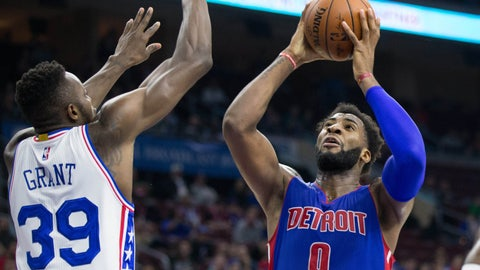 Drummond, Morris lead Pistons past 76ers 107-95