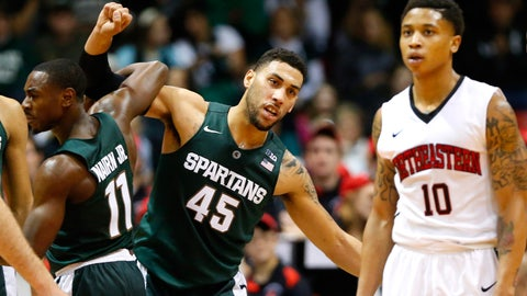 No. 1 MSU stays unbeaten with 78-58 victory over Northeastern