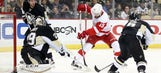 Red Wings suffer fourth straight road loss to Penguins 6-3