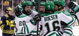 North Dakota ends Michigan's run to Frozen Four