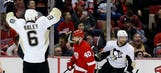 Red Wings' playoff chances dim after 7-2 loss to Penguins
