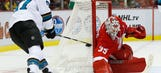 Red Wings blank Sharks 3-0 for fourth straight victory