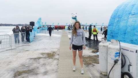 Jennifer prepares to take the plunge herself for a great cause!