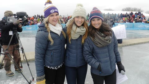 The FOX Sports North Girls emceed the Special Olympics Minnesota Polar Plunge on White Bear Lake.