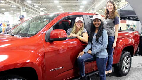 While hanging out at the Chevy booth, the FOX Sports Wisconsin Girls dreamed about tailgating in this new truck.