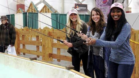 It's no fish tale, the FOX Sports Wisconsin Girls had a blast at the Journal Sentinel Sports Show.