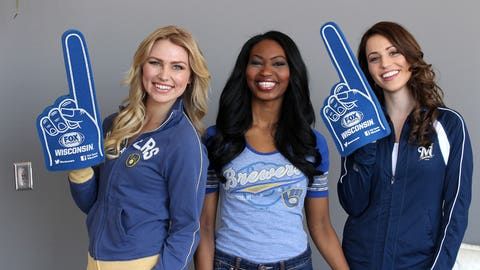 Chyna, Bishara and Sage are ready to cheer on the Brew Crew! Look for some fun new pics this season.