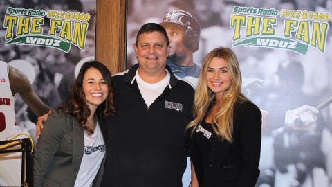 The FOX Sports Wisconsin Girls stopped by the WDUZ studios to chat sports with Bill Rabeor.