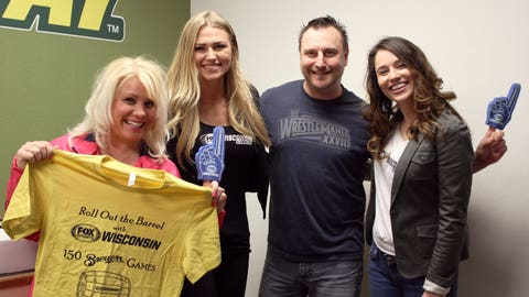 Steve & Laura from STAR 98 are ready to roll out the barrel on the Brewers season with the FOX Sports Wisconsin Girls.