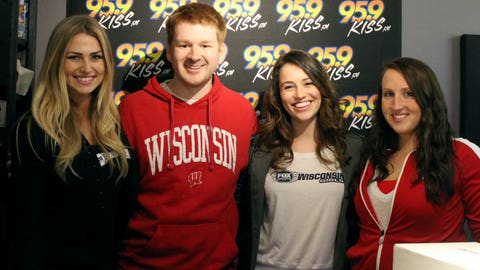 Joe Marroe & Karli Brooks from 95.9 KISS FM gave the FOX Sports Wisconsin Girls tips on the perfect walk up song.