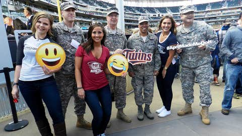 Great to see some of our troops enjoying the day out at Target Field.
