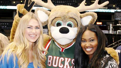 New look Bucks, but the same old Bango – giving bunny ears to Chyna.