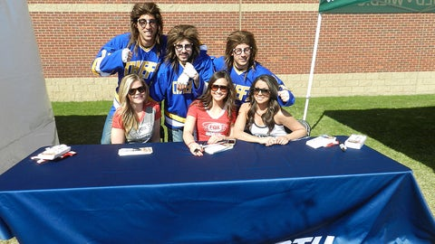 It's the guys from the movie Slap Shot!
