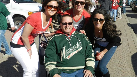 Let's go Wild! Excited for Game 3 at the Xcel Energy Center.