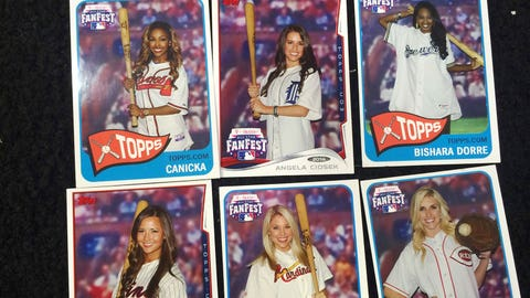 Don't forget to make your own baseball card at the Topps booth while at FanFest.