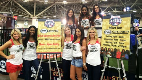 The FOX Sports Girls are ready to meet with baseball fans from across the country at the FOX Sports North booth at T-Mobile All-Star FanFest.