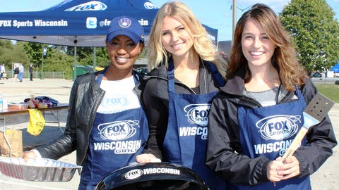 The grills are fired up & the FOX Sports Wisconsin Girls are ready to get the cookout started.