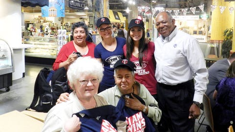 Angie, Kendall and Tony Oliva congratulate the big winners of the day. As part of Twins Day at the Market, fans could participate in a scavenger hunt, trivia, games and more!