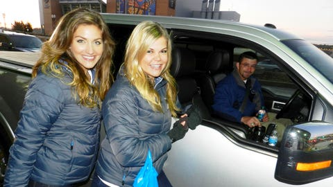 Kendall and Jennifer met lots of enthused fans ready for the season to begin.