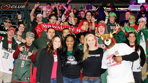 These fans are ready for the season to start! Can you spot the FOX Sports Wisconsin Girls?