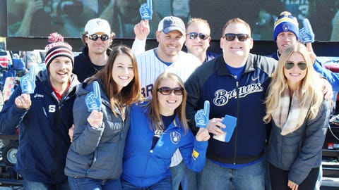 These fans are excited that it's FINALLY baseball season.